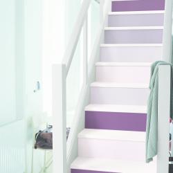 måla trappa lila nyanser färg